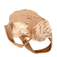 Crochet String Bag - Natural 21cmH