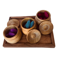 Pot & Lid Set 3 Wooden
