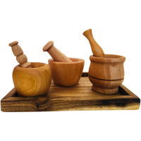 Small Hands Trio Tray Mortar & Pestle Set
