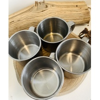Metal Cup Set of 4 Child Size Small