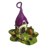 Fairy Cottage House Purple Roof