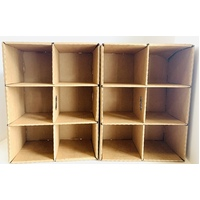 Cardboard Compartment Boxes Set of 2