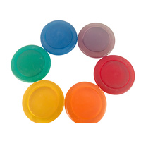 Rainbow Resin Ring & Disc Set 12pcs Portable Play Jar