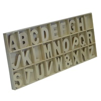 Wooden Alphabet Letters 81 pcs
