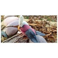 Galah In Gum Tree Log With Leaves