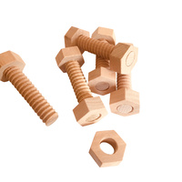 5 Wooden Nuts & Bolts