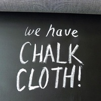 Chalk Oil Cloth Fabric Black