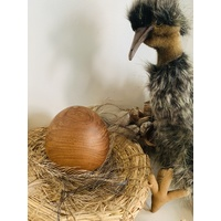 Emu Playset - Puppet, Nest, Egg. Feathers
