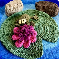 Frog & Lilly Pad Play Set Crochet