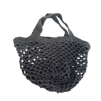 Crochet String Bag Grey