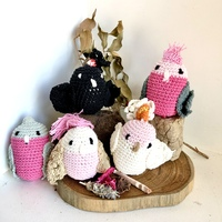 Cockatoo Crochet Bird Set 5
