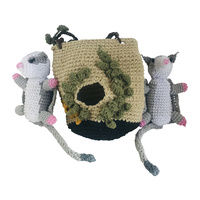 Sugar Glider Pair in Tree Nest Crochet