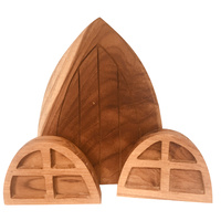 Fairy Door & Windows Recycled Teak