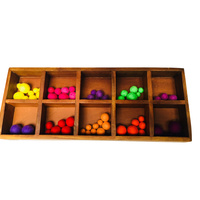 Compartment Tray 10 Frames & Felt Balls