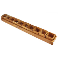 Mega Mahogany Sorting Tray - Jumbo 10 Compartments & Boxes