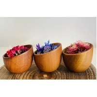 Sloped Wooden bowls Set of 3