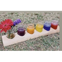 Raw Edge Paint Jar Holder & 6 Jars Large