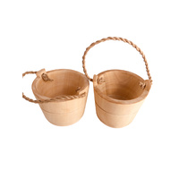 Bucket Wood Mini Pair