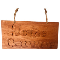 Home Corner Hand-carved Sign Small
