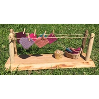 Wooden Washing Line Set - 58 x 20 x 23cmH
