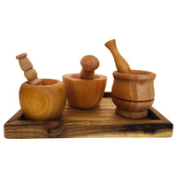 Small Hands Trio Mortar & Pestle Set With Tray