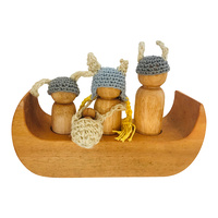 Viking Family & Boat Playset