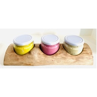 Raw Edge Play Dough 3 Jar Holder and Jars