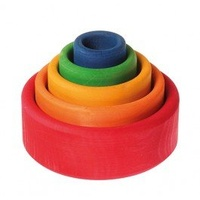 Rainbow Stacking Bowls Red Base