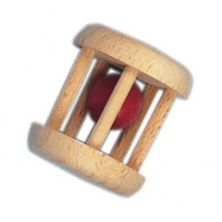 Rattle Baby Red Wood Ball