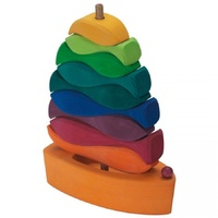Stacking Rainbow Fish & Sail Boat