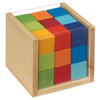 Coloured Cubes In A Box
