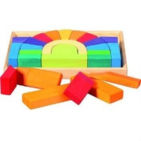 Block Set & Tray Rainbow 26 pieces