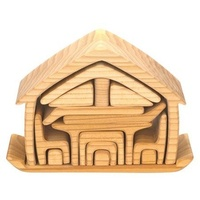 Puzzle All In One House Natural 17 pieces