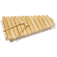 Xylophone 12 Notes Natural Wood