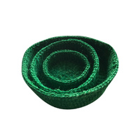 Basket Set 3 Sisal Green