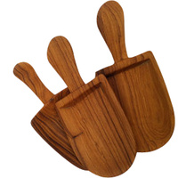 15cm Olive Wood Scoop 3 Set