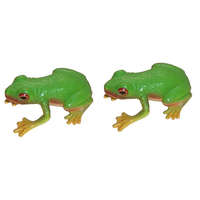 Red-Eyed Green Tree Frog Replica Pair