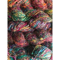 Fiber Sari Silk Rainbow Colours 1kg
