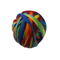 Rainbow Thick Thin Variegated Merino Wool Ball