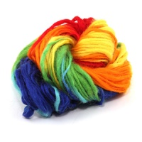 Rainbow Thick Thin Variegated Merino Wool Skein