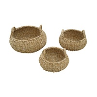 Round Handled Basket Set of 3