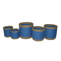 Royal Blue Storage Container - Jute Set 5