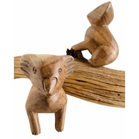 Koala Pair Hand Carved Wood