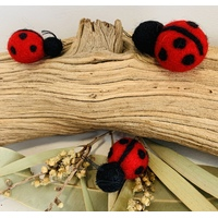 Lady Bug Felt Trio