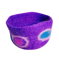 Circle Felt Bowl -  Purple