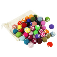 Number Numeracy 1-20 Set Felt Balls