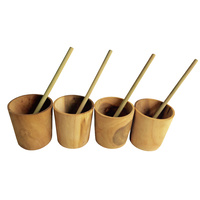Child Wooden Drinking Cup Set