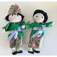 Cultural 16cm Dolls Boy & Girl Set - Balinese