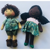 Boy & Girl Mini Doll Set Yalke Green
