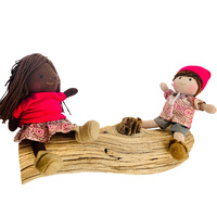 Boy & Girl Mini Doll Set Yalke Red